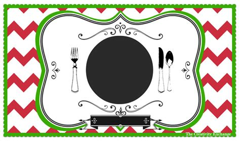 printable placemat free printable child s chalkboard placemat november