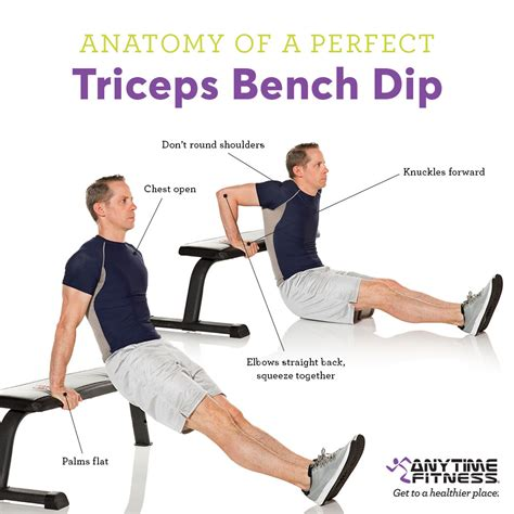 triceps bench dip how to do a perfect triceps dip and challenge yourself more