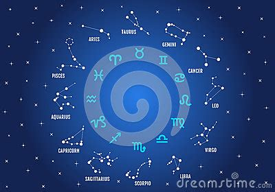 zodiac signs vector icon set stock image image