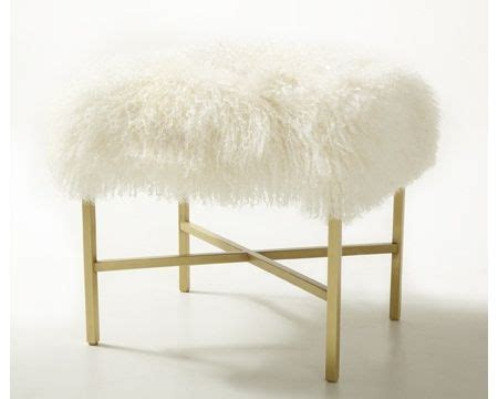 gray fur vanity stool faux fur vanity stool makeover marlow court