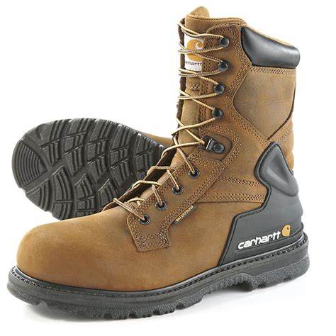 carhartt s steel toe waterproof 8 quot bison boots