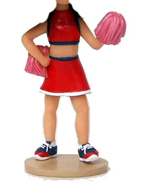 bobblehead gif maker cheerleading custom bobblehead doll