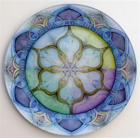 welcome mandala art plates