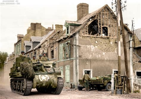 Easiest Mba Fields In M7 by Ww2 Colourised M7 Priest In Carentan
