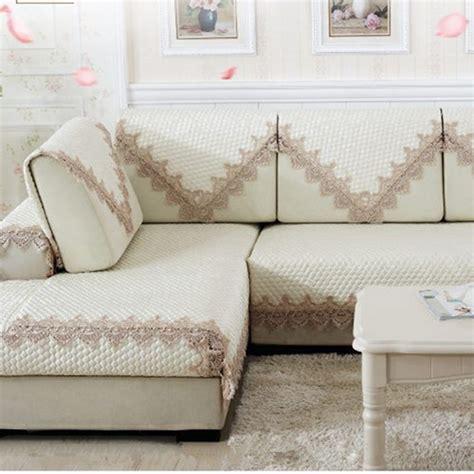 l type sofa cover european style sofa cushion elegant lace sofa towel funda