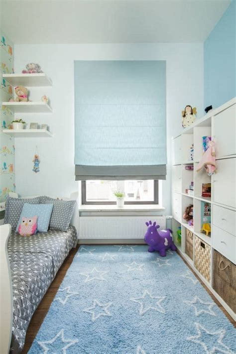 kinderzimmer ideen fuer kleine zimmer pastellblaue akzente im kinderzimmer und wei 223 e wandfarbe
