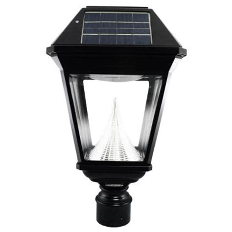 Bright Solar L Post by Gama Sonic Imperial Ii Solar Black Outdoor Post Light On 3 In Fitter With 21 Bright White Leds