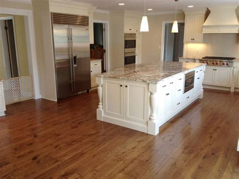 13 best floors images on pinterest flooring ground covering and floors linen white cabinets with traditional oak floors and neutral countertop dream kitchen