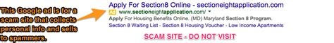 report section 8 violations how to avoid and report section 8 google scams