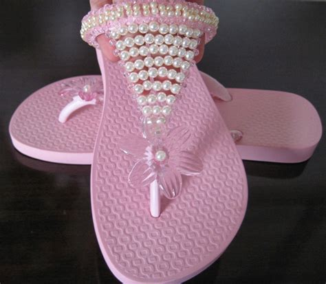 decorar zapatos con perlas chanclas zapatillas sandalias decoradas y zapatillas