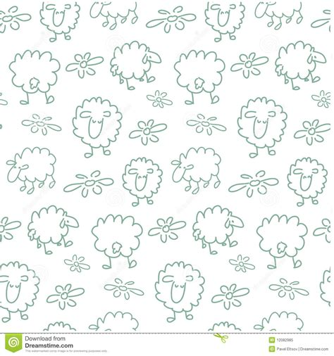 seamless sheep pattern royalty free stock photo image