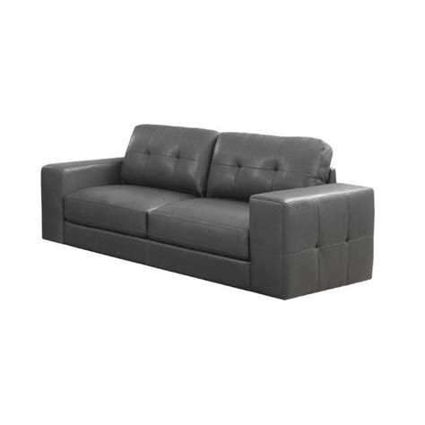 leather sofa in charcoal gray i8223gy