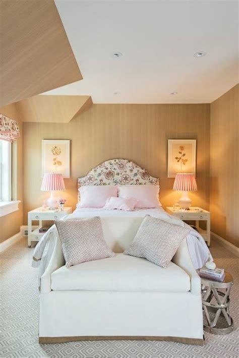 beige and coral bedroom pink and beige bedrooms transitional bedroom lindsey