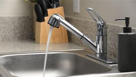 sink water kitchen sink faucet running water stock footage