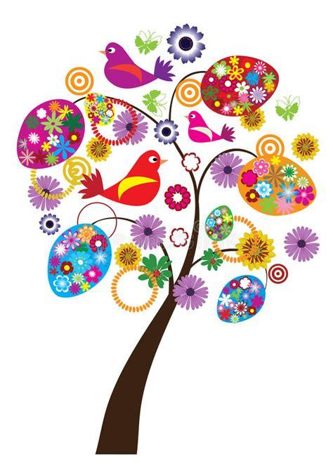 clipart albero albero di pasqua illustrazione vettoriale illustrazione