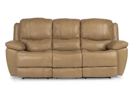 leather power sofa flexsteel living room leather power reclining sofa 1491