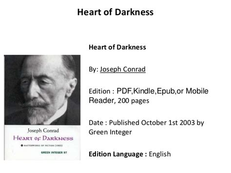 theme of heart of darkness slideshare heart of darkness pdf book