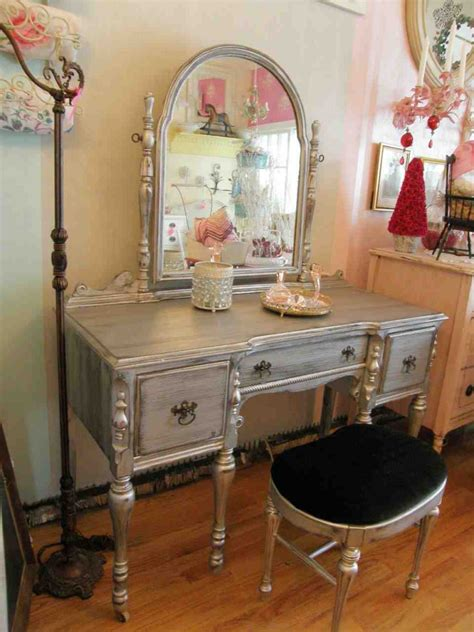 Vintage Bedroom Vanity Furniture Antique Vanity Dresser With Mirror Home Furniture Design