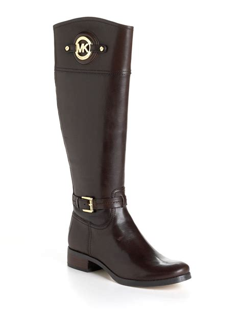 michael kors boots michael michael kors stockard leather boots in