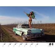 """Girls &amp Legendary US Cars"" 22 Sexy Kalender Girls"