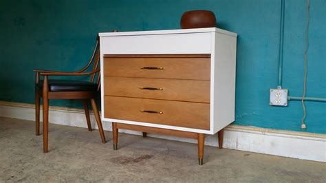 mid century changing table vintage ground mid century white wood entry table