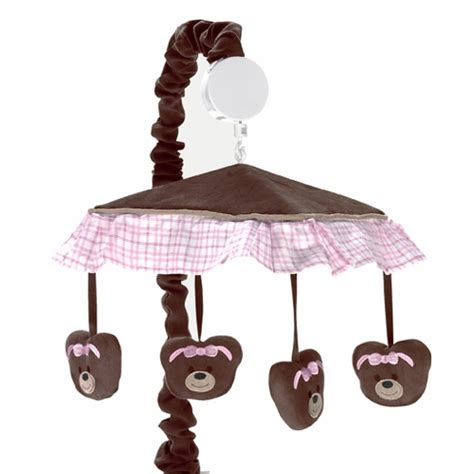 Teddy Crib Mobile by Pink And Chocolate Teddy Musical Baby Crib Mobile By