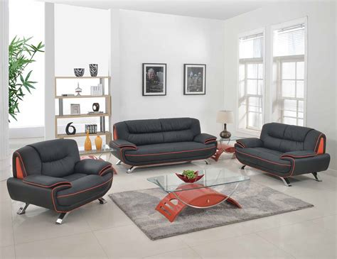 amalfi leather living room furniture collection amalfi black with orange leather living room las vegas furniture store modern home