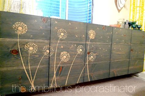 Sanding And Staining Kitchen Cabinets diy design ideas flower stencil wood stain decor