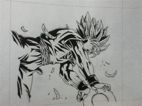 imagenes en blanco y negro de dragon ball dibujo propio de goku en blanco y negro taringa