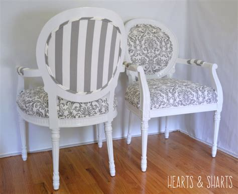 Chair Makeover by Chair Makeover With Premier Prints Hearts Sharts