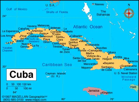 map usa and cuba a map of the republic of cuba