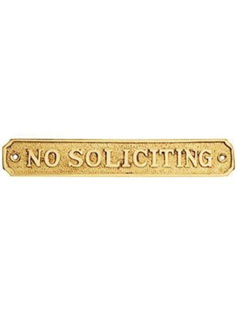 no soliciting sign for house cast brass quot no soliciting quot sign house of antique hardware whatevers clever