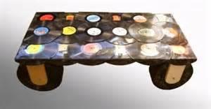 diy vinyl coffee table w 12 wheels