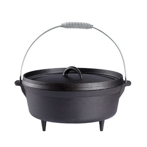 Hanging Cooking Pots 6 Quart Cast Iron Oven Pot Outdoor Cfire Hanging