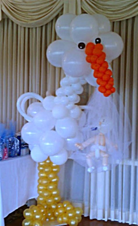 Stork Baby Shower Decorations by 300 Baby Shower Package Balloon Arch Wicker Chair
