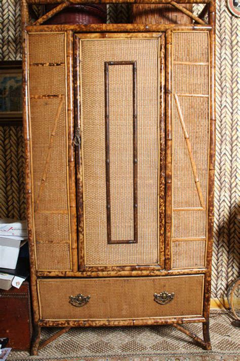 rattan armoire 20th century english bamboo armoire with rattan at 1stdibs