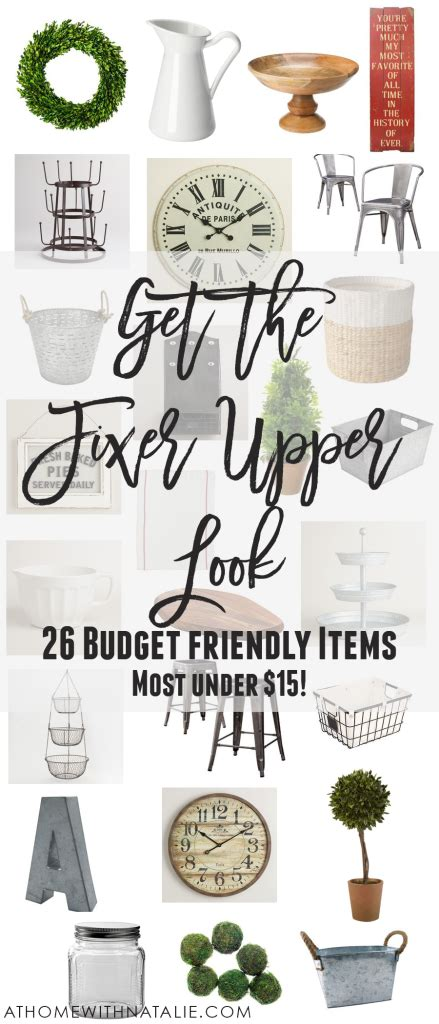 how to get the fixer upper look in your home jenna burger get the fixer upper look 26 budget friendly items at