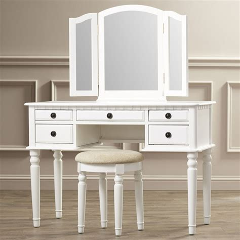 White Makeup Vanity Table Vanity Set With Mirror Stool Seat White Bedroom Makeup Vintage Dresser Table Ebay
