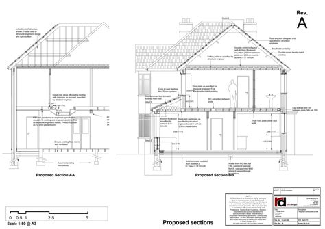 section through a building exle construction drawings robin designs ltd