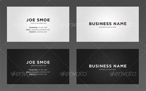 simple card templates 45 attractive personal business card templates