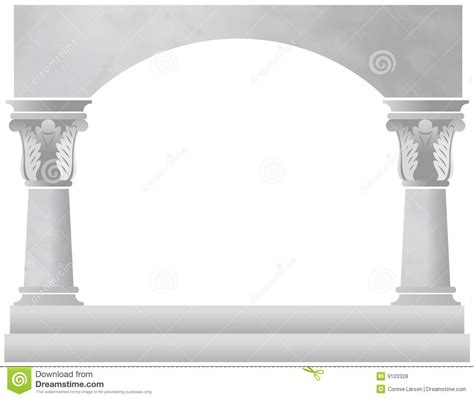 pillar the column supporting the arch for the home marble column arch royalty free stock photos image 9103328