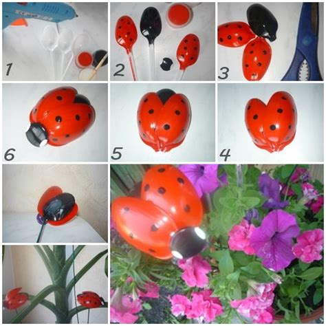 plastic crafts projects wonderful diy plastic spoon ladybug gardens