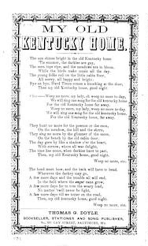 printable lyrics to my old kentucky home martha polka library of congress
