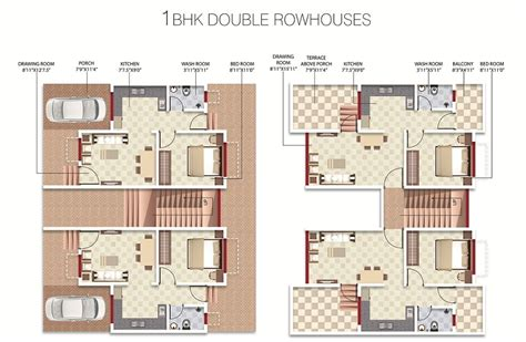 Overview Vrindavan Radha Madhav Developers At Jamtha 1 Bhk Row House Plans