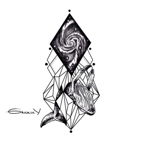 black and white space tattoo amazing black and white whale with geometric elements and