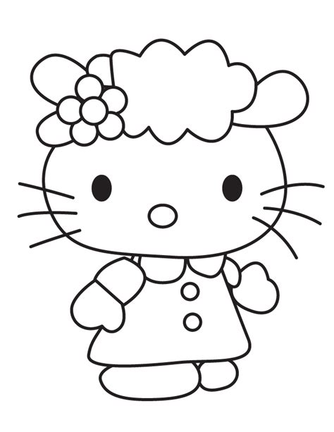 coloring pages hello kitty and friends sanrio cute hello kitty friend coloring page h m