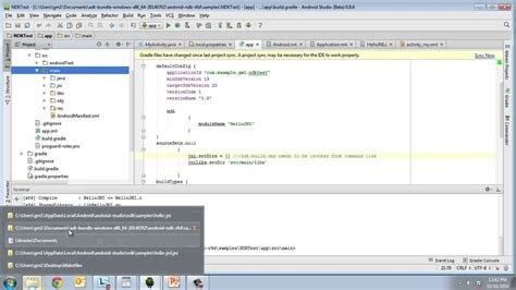 ndk android studio building ndk apps with android studio