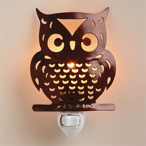 handcrafted metal owl light world market