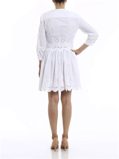 Broderie Dress broderie anglaise decorated dress by alberta ferretti