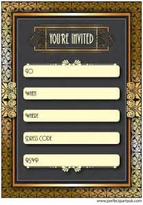 1920s invitation template free 1920s great gatsby invitation get the free